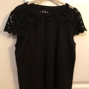 Lace Cap Sleeve T-Shirt